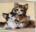 "PNV147357 Vervaco Kit Three Kittens 20"" x 16""; Canvas; 18ct"