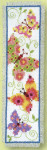 "PNV21727 Vervaco Kit Butterflies Flapping I Bookmark 2.4"" x 8""; Aida; 14ct"
