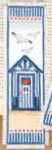 "PNV144278 Vervaco Kit Beach House - Bookmark 2.4"" x 8""; Aida; 14ct"