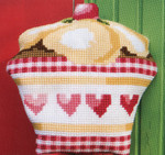 "PNV147450 Vervaco Kit Cupcake16"" x 16""; Canvas; 18ct"