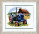 "PNV146895 Vervaco Kit Blue Tractor 10"" x 8""; Aida; 14ct"