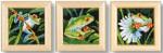 "PNV147135 Vervaco Kit Frog Trio 3.2"" x 3.2""; Aida; 18ct"