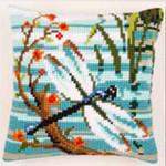 "PNV145249 Vervaco Kit Dragonfly Cushion 16"" x 16"" Canvas"