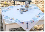 "PNV145846 Vervaco Kit Beach Tablecloth 32"" x 32""; Cotton; 10.5ct"