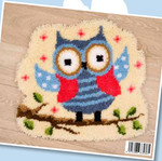 "PNV145671 Vervaco Latch Hook Kit Owl Rug 22"" x 20""; Canvas"