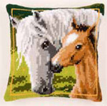 "PNV144668 Vervaco Kit Horse Cushion 16"" x 16"" Canvas"