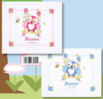 """PNV144317 Vervaco Kit Pink Owl Design Only 9.2"""" x 8""""; Aida; 14ct"""