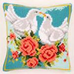 "PNV143723 Vervaco Kit Doves Cushion 16"" x 16"" Canvas"