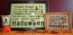 Count Down To Halloween Large framed: 122h x 187w, Small framed: 122h x 187w, Pillow: 49h x 38w Needle Bling Designs YT