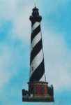 Silver Lining Cape Hatteras Lighthouse Size: 147w x 459h