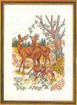 """7792833 Eva Rosenstand Kit Deer 16"""" x 20""""; Aida; 14ct"""