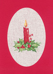 "HCK1165R Heritage Crafts Kit Candle Red  Christmas Cards by Sue Hill Set of 3 cards and envelopes 6"" x 8""; Aida; 14ct"