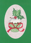 "HCK1161 Heritage Crafts Kit Cupcake Green Christmas Cards by Sue Hill Set of 3 cards and envelopes 6"" x 8""; Aida; 14ct"