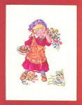"7712971 Eva Rosenstand Kit Girl With Puppy 12"" x 16"" Linen 25ct 7712971"
