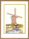 "7712623 Eva Rosenstand Kit Windmill 16"" x 20""; Linen; 25ct 623"