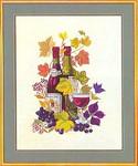 """77084366 Eva Rosenstand Kit Wine Motif III 19"""" x 23""""; Linen; 26ct"""