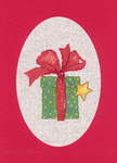"HCK1163R Heritage Crafts Kit Gift Red  Christmas Cards by Sue Hill Set of 3 cards and envelopes 6"" x 8""; Aida; 14ct"