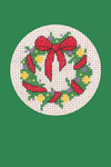 HCK1153 Heritage Crafts Kit Wreath Green Christmas Cards by Michaela Learner & Susan Ryder