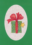 "HCK1163 Heritage Crafts Kit Gift Green Christmas Cards by Sue Hill Set of 3 cards and envelopes 6"" x 8""; Aida; 14ct"