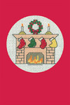 "HCK1150R Heritage Crafts Kit Stockings Red Christmas Cards by Michaela Learner & Susan Ryder 3 cards and envelopes 4"" x 6""; Aida; 14ct"