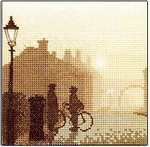 "HCK327 Heritage Crafts Kit First Post by Phil Smith - Silhouettes 5"" x 5"" Evenweave 28ct"