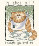 "HCK895 Heritage Crafts Kit Is That All? by Peter Underhill - Cats-Rule! 5"" x 6.5""  Evenweave 28ct"