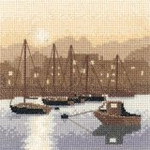 "HCK973 Heritage Crafts Kit Harbour Light by Phil Smith  5"" x 5"" Evenweave 28ct"
