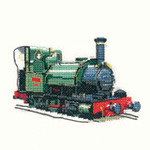 "HCK229 Heritage Crafts Kit Talyllyn Train 4.75"" x 3.25"" Evenweave 27ct"