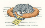 "HCK1134A Heritage Crafts Kit Do Not Disturb  Cats Rules by Peter Underhill 8"" x 4.5"";Aida 14ct"