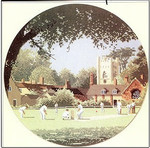 "HCK442 Heritage Crafts Kit Sunday Cricket by John Clayton 10"" Circle; Evenweave; 27ct"