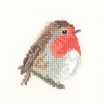 "HCK1003 Heritage Crafts Kit Robin Valerie Pfeiffer 2.75"" x 2.5""  Evenweave;27ct"