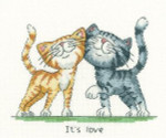 "HCK1073 Heritage Crafts Kit It's Love by Peter Underhill 8"" x 6"" Evenweave; 27ct"
