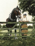 "HCK884 Heritage Crafts Kit Old Pals Horseby John Clayton 8.25"" x 12.25""; Evenweave; 28ct"