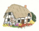 "HCK989 Heritage Crafts Kit Cruck Cottage - by Susan Ryder 4"" x 5.6""; Aida; 16ct"
