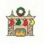 "HCK964A Heritage Crafts Kit Christmas Stocking 2.5"" x 2.5"" ; Aida; 14c"