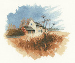 "HCK1060 Heritage Crafts Kit Old Farmhouse by John Clayton 9.25"" x 7.75""; Evenweave; 27ct"