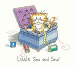 "HCK1049 Heritage Crafts Kit Little Sew & Sew - Cat's Rule by Peter Underhill 6.5"" x 7.5""; Evenweave; 27ct"