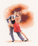 "HCK948 Heritage Crafts Kit Argentine Tango by John Clayton 12"" x 9.25""; Evenweave; 28ct"