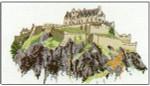 "HCK45 Heritage Crafts Kit Edinburgh Castles by Susan Ryder 6.7"" x 4.5""; Evenweave; 28ct"