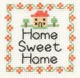 "HCK960A Heritage Crafts Kit Home Sweet Home 2.5"" x 2.5"" ; Aida; 14c"