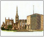 "HCK222 Heritage Crafts Kit Coventry Cathedral by Susan Ryder 6.7"" x 4.5""; Evenweave; 28ct"