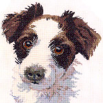 "HCK748 Heritage Crafts Kit Scruff Dog by Pauline Gledhill 6.5"" x 8.25""; Evenweave; 27ct"