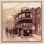 "HCK533 Heritage Crafts Kit Tram Stop by Phil Smith 5"" x 5""; Evenweave; 28ct"