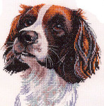 "HCK747 Heritage Crafts Kit Samuel Dog by Pauline Gledhill 6.75"" x 8.25""; Evenweave; 27ct"