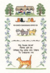 "HCK1004 Heritage Crafts Kit Cat Samplers 6.25"" x 9.75""; Evenweave; 27ct"