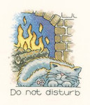 "HCK931 Heritage Crafts Kit January Cat by Peter Underhill - Calendar Cats 4"" x 4""; Evenweave; 27ct"