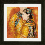 "PN147587 Lanarte Kit Asian Couple 19"" x 17""; Evenweave; 27ct"