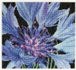 """GOK489A Thea Gouverneur Kit Cornflower 6"""" x 6""""  Aida 18ct"""