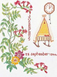 "GOK869 Thea Gouverneur Kit September 9.6"" x 13.6"" Linen 30ct"