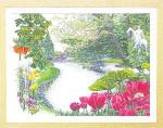 "GOK431 Thea Gouverneur Kit Keukenhof Garden 25"" x 19""; Linen; 36ct"